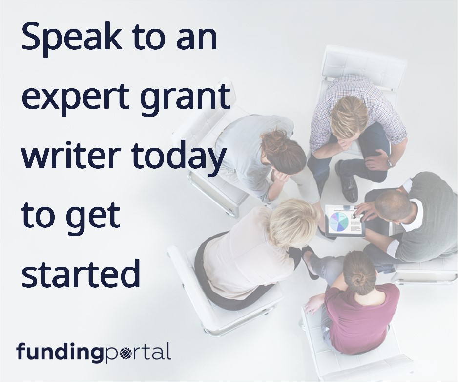 Book a consultation with a Fundingportal grant writer