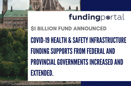 COVID-19 health & safety infrastructure funding supports from federal and provincial governments increased and extended